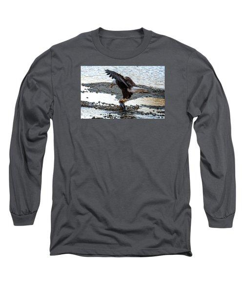 Eagle Dinner Long Sleeve T-Shirt by Sabine Edrissi