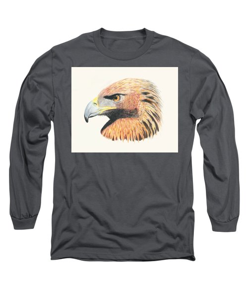 Eagle Eye  No Border Long Sleeve T-Shirt by Stephanie Grant