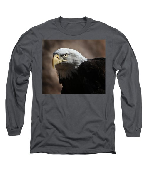Long Sleeve T-Shirt featuring the photograph Eagle Eyed by Marie Leslie