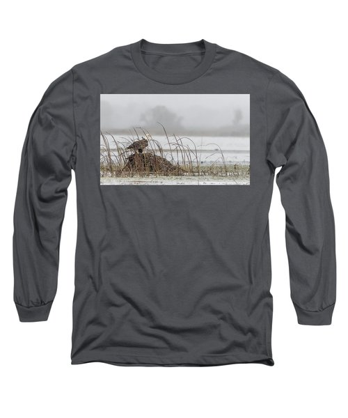 Eagle Hunts For Coots And Ducks Long Sleeve T-Shirt