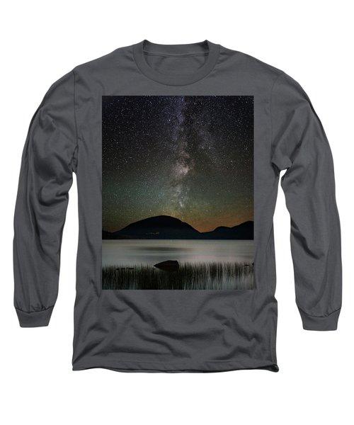 Eagle Lake And The Milky Way Long Sleeve T-Shirt