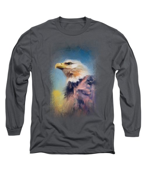 Eagle On Guard Long Sleeve T-Shirt