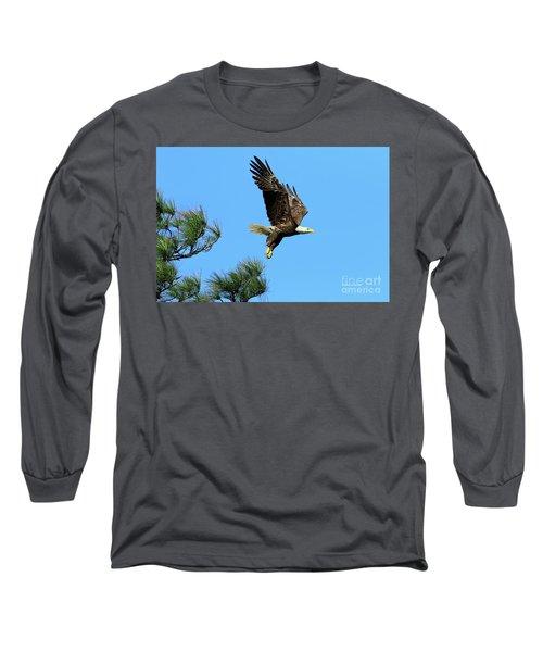 Long Sleeve T-Shirt featuring the photograph Eagle Series 1 2017 by Deborah Benoit