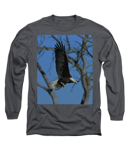 Long Sleeve T-Shirt featuring the photograph Eagle With Fish by Coby Cooper