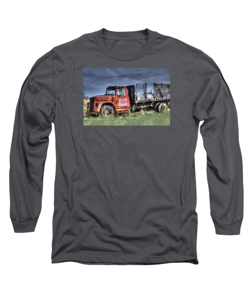 Long Sleeve T-Shirt featuring the photograph Earl Latsha Lumber Company Version 2  by Shelley Neff
