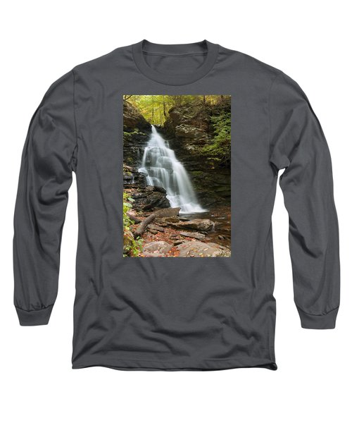 Long Sleeve T-Shirt featuring the photograph Early Autumn Morning Below Ozone Falls by Gene Walls