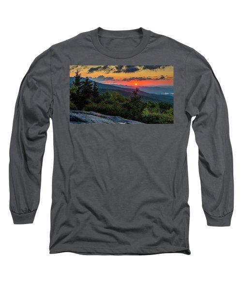 Blue Ridge Parkway Sunrise - Beacon Heights - North Carolina Long Sleeve T-Shirt