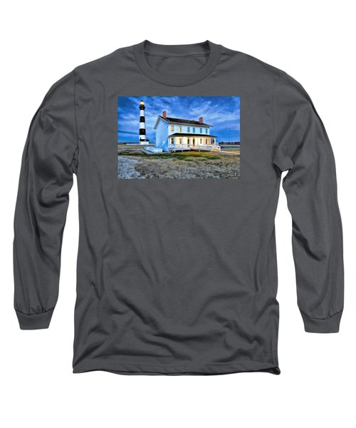 Early Evening Lighthouse Long Sleeve T-Shirt by Marion Johnson
