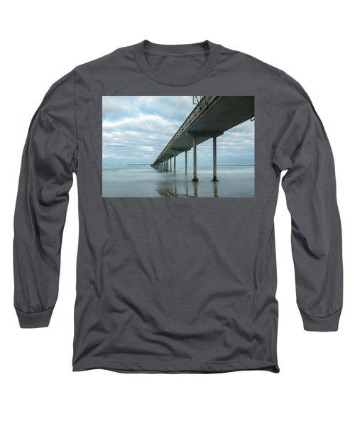 Early Morning By The Ocean Beach Pier Long Sleeve T-Shirt