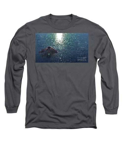 From A Window Of A Car Long Sleeve T-Shirt by Donna Brown