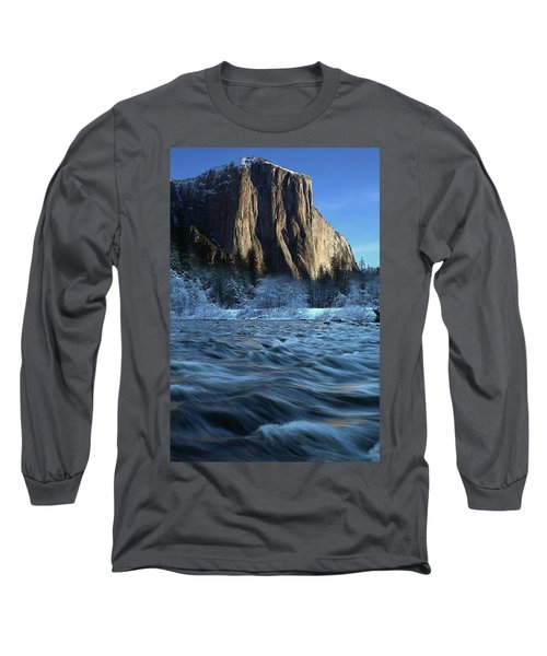 Early Morning Light On El Capitan During Winter At Yosemite National Park Long Sleeve T-Shirt by Jetson Nguyen