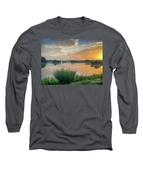 Early Morning Sunrise On The Lake Long Sleeve T-Shirt