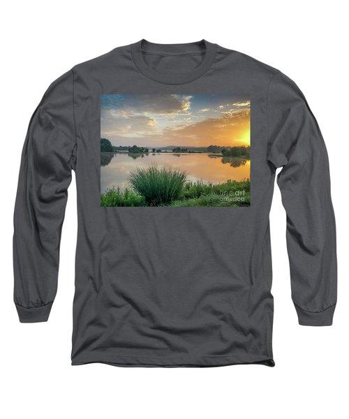 Early Morning Sunrise On The Lake Long Sleeve T-Shirt