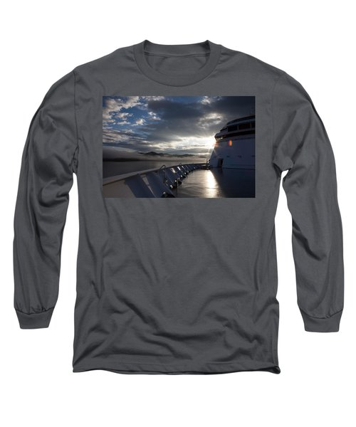 Long Sleeve T-Shirt featuring the photograph Early Morning Travel To Alaska by Yvette Van Teeffelen
