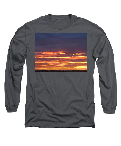 Early Prairie Sunrise Long Sleeve T-Shirt