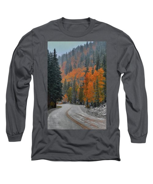 Long Sleeve T-Shirt featuring the photograph Early Snow by Dana Sohr
