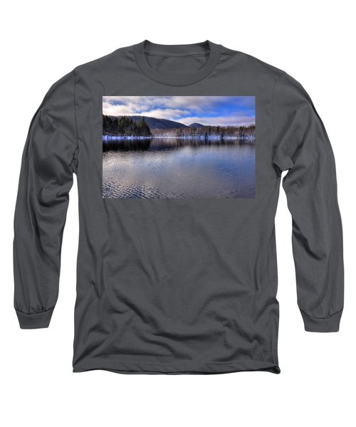 Early Snow On West Lake Long Sleeve T-Shirt by David Patterson