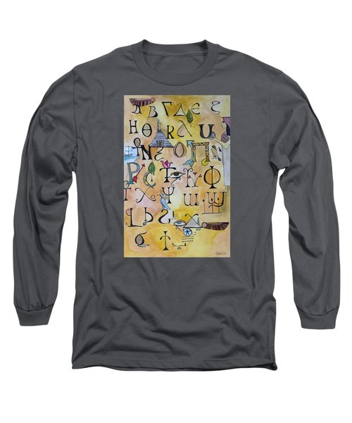Early Song Of Words Long Sleeve T-Shirt