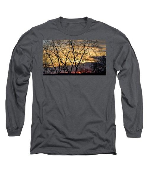 Early Spring Sunrise Long Sleeve T-Shirt by Randy Scherkenbach