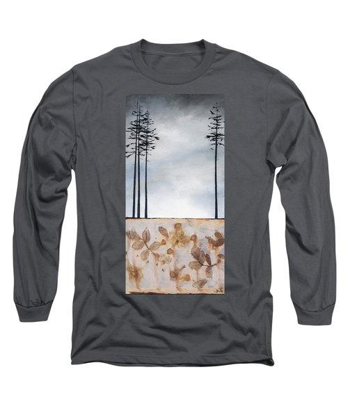 Earth And Sky Long Sleeve T-Shirt by Carolyn Doe