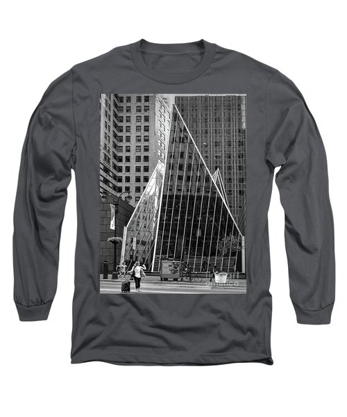 East 42nd Street, New York City  -17663-bw Long Sleeve T-Shirt