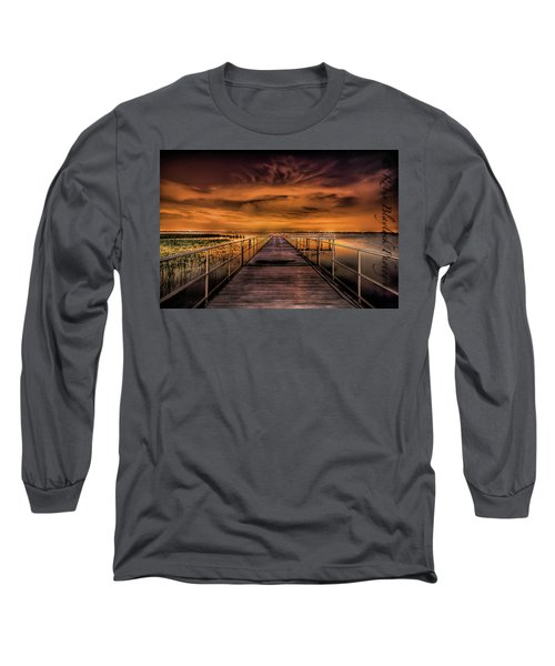 East Lake Pier Topaz Long Sleeve T-Shirt