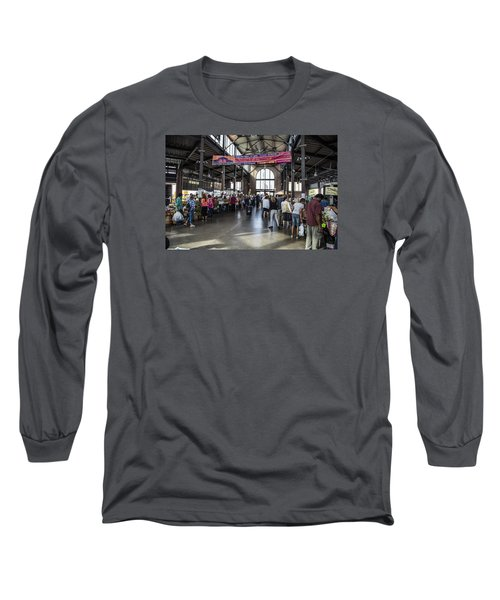 Eastern Market Detroit Saturday  Long Sleeve T-Shirt