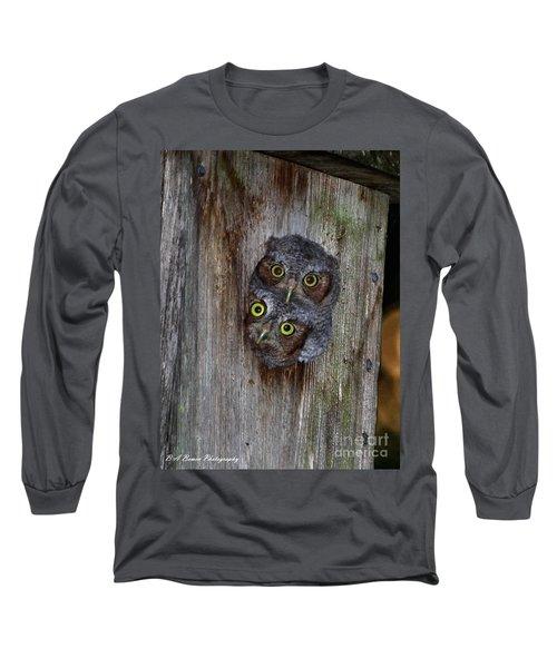 Eastern Screech Owl Chicks Long Sleeve T-Shirt