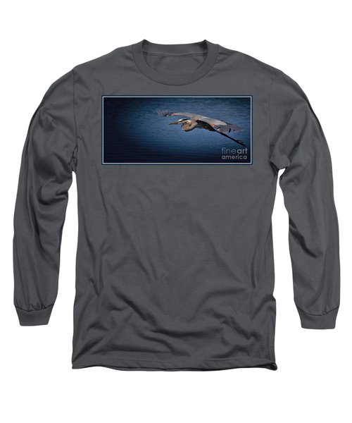 Easy Move With Border Long Sleeve T-Shirt by Pamela Blizzard