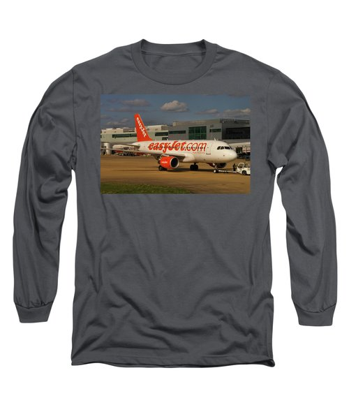 Long Sleeve T-Shirt featuring the photograph Easyjet Airbus A319-111  by Tim Beach