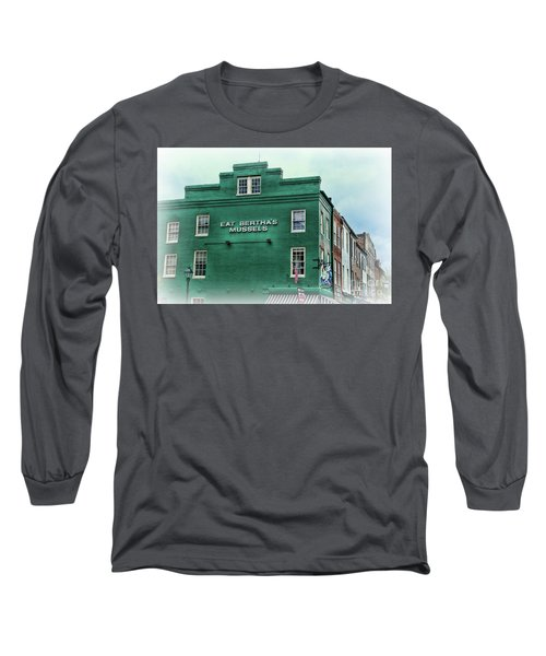 Long Sleeve T-Shirt featuring the photograph Eat Berthas Mussels  by Paul Ward