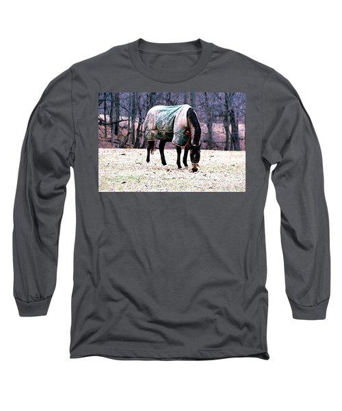 Eatin' Snowy Grass Long Sleeve T-Shirt