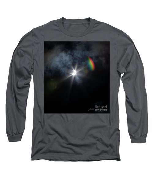 Solar Eclipse 2017 And Rainbow Long Sleeve T-Shirt