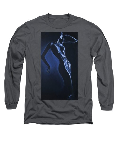 Long Sleeve T-Shirt featuring the painting Eclipse by Jarko Aka Lui Grande