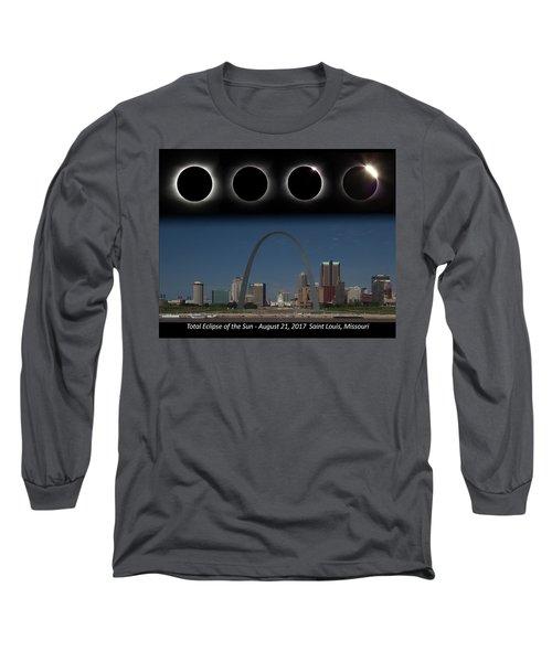 Eclipse - St Louis Skyline Long Sleeve T-Shirt