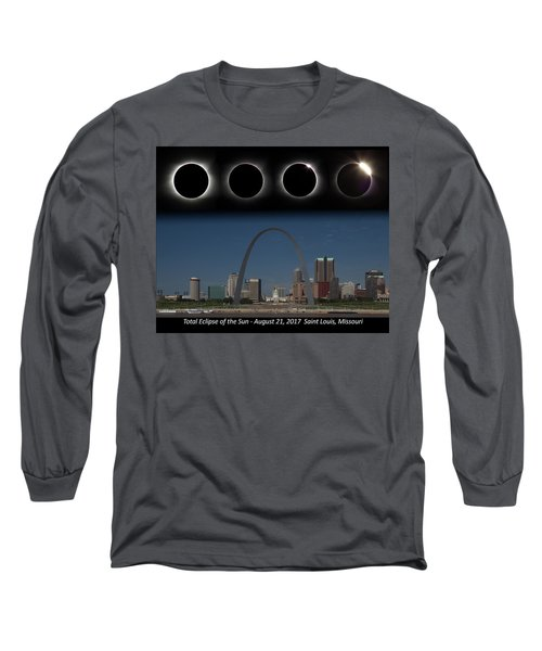 Eclipse - St Louis Skyline Long Sleeve T-Shirt