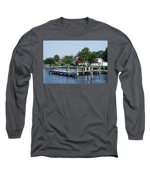 Edenton Waterfront Long Sleeve T-Shirt by Gordon Mooneyhan