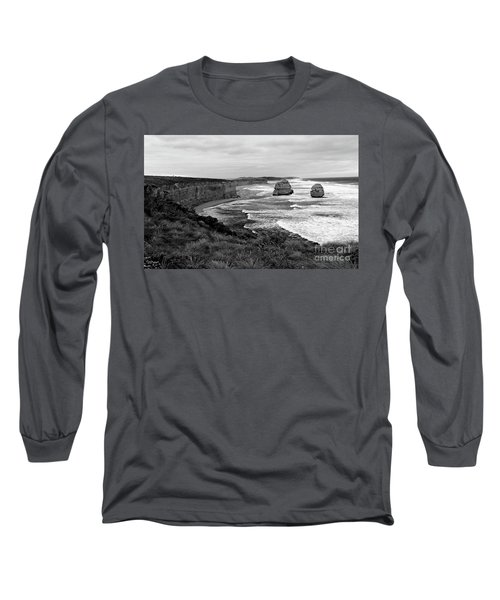 Edge Of A Continent Bw Long Sleeve T-Shirt