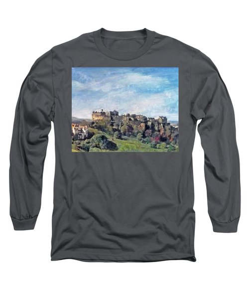 Edinburgh Castle Bright Long Sleeve T-Shirt by Richard James Digance