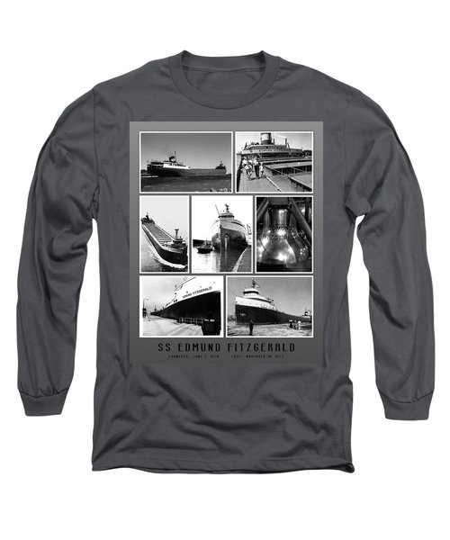 Edmund Fitzgerald Black And White Long Sleeve T-Shirt