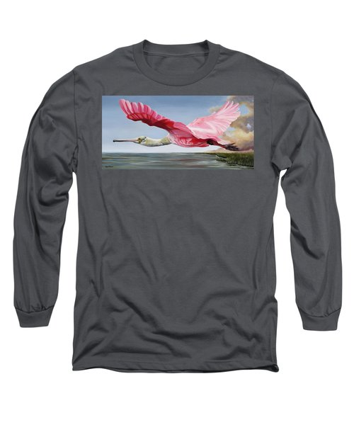 Edward's Roseate Spoonbill Long Sleeve T-Shirt