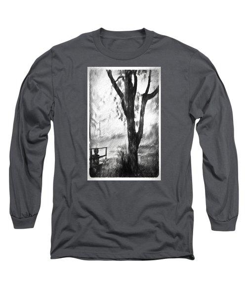 Tree In The Mist Long Sleeve T-Shirt by Rena Trepanier