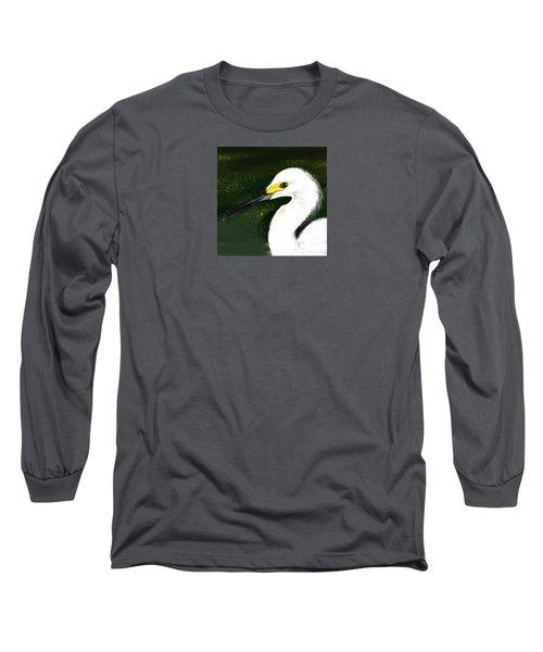 Egret Long Sleeve T-Shirt by Beth Klock