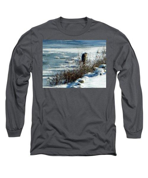 Egret Frozen Lake Long Sleeve T-Shirt