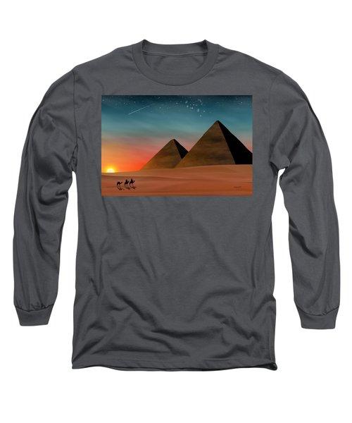 Egyptian Pyramids Long Sleeve T-Shirt