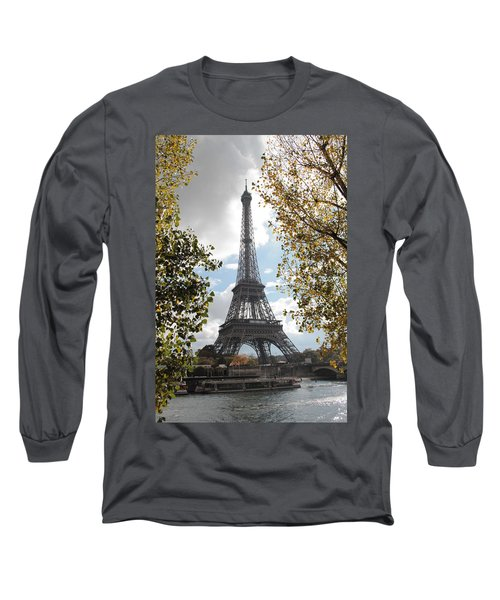 Long Sleeve T-Shirt featuring the photograph Eiffel From Avenue De New York by Christopher Kirby