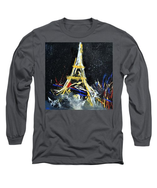 Long Sleeve T-Shirt featuring the painting Eiffel by Gary Smith