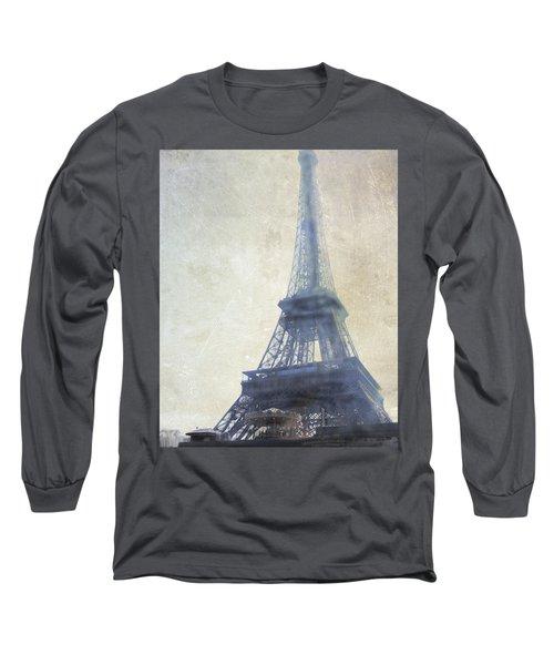 Eiffel Tower Long Sleeve T-Shirt by Catherine Alfidi