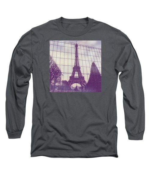 Eiffel Tower Through Fence Long Sleeve T-Shirt