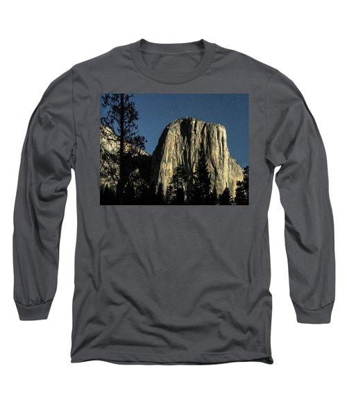 El Capitan By Starlight, Yosemite Valley, Yosemite Np, Ca Long Sleeve T-Shirt